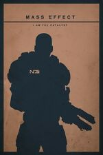 POSTER MASS EFFECT GAME SHEPARD KIRRAE MOREAU PS3 XBOX 360 2 3 N7 N 7 PC PS #12