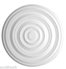 Ceiling Medallion 29 inch Primed White D573 round classic dome canopy light big