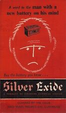 Silver Exide Car Batteries 1956-57 UK Market Foldout Sales Brochure