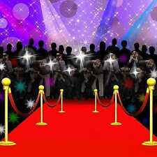 Red carpet moment 10'x10' CP Backdrop Computer-painted Scenic Background ZJZ-019
