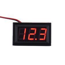 New Mini DC 5-30V Voltmeter LED Panel 3-Digital Display Voltage Meter 2-wire
