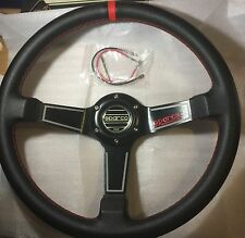 SPARCO SPORTS 350MM DEEP DISH STYLE STEERING WHEEL PVC FOR MOMO SPARCO NARDI BOS