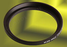 M39-M42 39mm-42mm Lens Mount Adapter Converter Filter Ring 39x0.75-42x1 39-42 mm