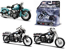 SONS OF ANARCHY HARLEY DAVIDSON MOTORCYCLE 3pc SET 1/18 SERIES 2 MAISTO 35024