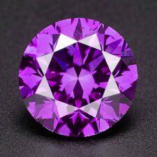CERTIFIED .071 cts. Round Vivid Purple Color SI Loose Real/Natural Diamond 1E