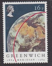 1984 MNH Greenwich Meridian Centenary Stamp - 16p The Earth From Space
