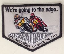 1992 AUSTRALIAN MOTORCYCLE GRAND PRIX CLOTH PATCH HONDA YAMAHA SUZUKI MOTO GP