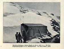 Montblanc-Besteigung: Gabane Aiguille du Goûter Historische Aufnahme 1908