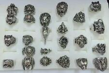 Wholesale Lot 24 Piece Stainless Steel Fashion Hot Punk Mens Biker Rings US 7-15