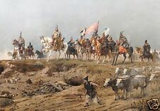Arrival of the Hungarians 1894 (detail) Arpad Festzy Panorama 7x5 Inch Print