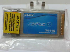 The D-Link DWL-G630 Wireless-G CardBus Adapter