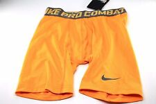 Mens Nike Pro Combat Base Layer Compression Shorts Dri-Fit Yellow 519977 Medium