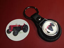 MASSEY FERGUSON  TRACTORS: LEATHER KEY RING,   +  FREE  PHONE STICKER