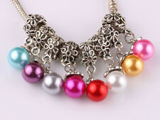NEW 20pcs Tibetan silver pearl pendant spacer beads fit Charm European Bracelet