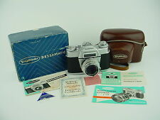 Voigtlander Bessamatic Camera w/ 50mm F/2.8 Skopar X Lens & Box - Very Clean