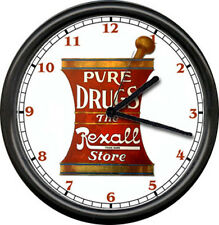 Rexall Drug Store Pharmacy Pharmacist Drugist Medical Doctor Sign Wall Clock