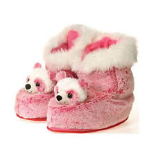 Panda Boots Indoor Plush Bootie Slippers Shoes Women Adult - One Size Pink NEW