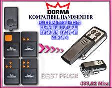 DORMA HS43 - 2E,HS43 - 4E 433,92MHz Kompatibel Handsender, klone, Replacement