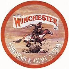 Winchester Express- Round Metal Tin Sign Wall Art