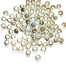 MB7266f Bright Silver Square Rounded Cube 3mm Plated Brass Metal Beads 100/pkg