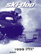 Ski-Doo parts manual catalog book 1999 FORMULA III 800