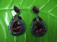 Water drop Style Fashion Colorful Crystal Rhinestone Dangle Earrings