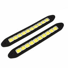 2x Car 20W Silicone COB 10 LED Flexible Light DRL Driving Daytime Running Lamps