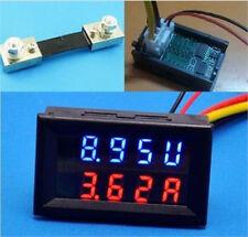 100V 100A DC Digital Voltmeter Ammeter LED Amp Volt Meter + Shunt FOR 12v 24v Ca