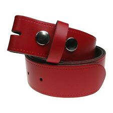 New Genuine Full Grain Press Stud Snap On Mens Leather Belt Made in the UK