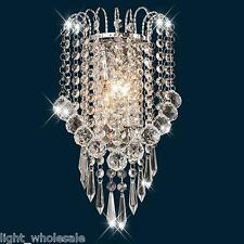 Bathroom Light Fixture Modern Vanity Wall Chrome Crystal Wall Sconce Lighting