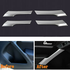 4x Chrome Interior ABS Side Door Armrest Stripe Cover Trim For Tiguan 2010-2015