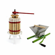 KuKoo 7L Fruit Crusher Manual Cider Making Pressed Juice Homemade Wine 18L Press