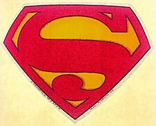 Vintage 70s Superman Logo Iron-On T-Shirt Transfer Glitter D.C. Comics RARE!
