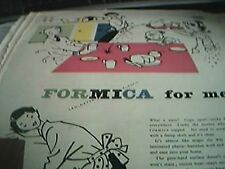 newspaper folded advert 1956 formica topped plastic worktop