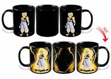 Dragon Ball Z SSJ Gogeta Heat Reactive Color Changing Ceramic Coffee Mug Cup