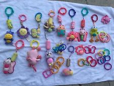 Bright Starts baby gym links toys clip on plush stroller car seat lot of 37