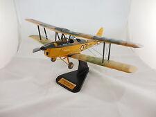 RAF De Havilland Tiger Moth DH 82 Mk.II Desk Top Wood Display Model 1/20