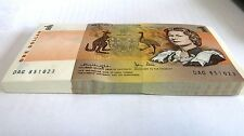 1979 Australia $1 One dollar Knight / Stone paper Banknote - Run of Ten