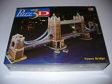 NEW PUZZ 3D TOWER BRIDGE : 819 PIECE 3D JIGSAW PUZZLE FACTORY SEALED