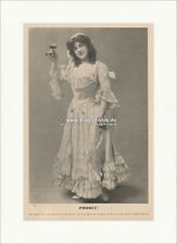Prosit. Miss Blanche Ring Oper Theater Schauspiel London Wein F Original 00653