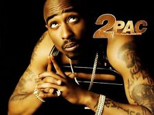 Tupac Shakur 2Pac Hip Hop Star Fabric Art Cloth Poster 17inch x 13inch Decor 04