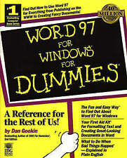 Dan Gookin Word 97 for Windows for Dummies Very Good Book (USED)