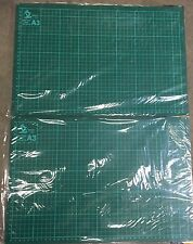 2x A3 CUTTING CRAFT MAT SELF HEALING NON SLIP PRINTED GRID LINES KNIFE BOARD