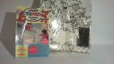 Crayola crayons Happy Bears plastic coloring cloth ( never used )
