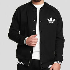 SIZE SMALL - ADIDAS ORIGINAL SST FLEECE TREFOIL JACKET BLACK - LIMITED EDITION