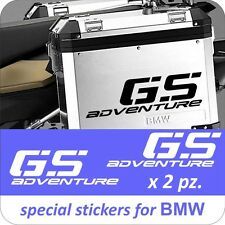 2 Adesivi Stickers Moto BMW R 1200 1150 1100 800 650 gs valigie adventure