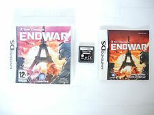 TOM CLANCY'S ENDWAR complete in box with manual Nintendo DS game