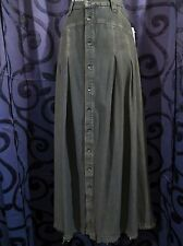 Free People Country Western Denim Modest Long Blue Jean Skirt Sz 27 Waist 30 NWT