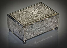 Rare Russian Antique Tula Steel Box for Play Chips c. 1780