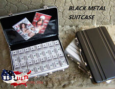 "1/6 Metal Briefcase Cash Box BLACK For 12"" Hot Toys Barbie Phicen Figure USA"